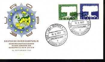 (intern:032) BRD Michelnummer 268 - 269 FDC