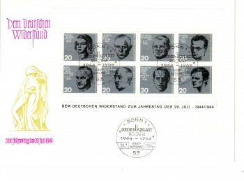(intern:1019c) BRD Michelnummer Block 3 FDC