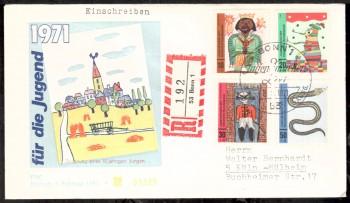 (intern:1358) BRD Michelnummer 660 - 663 FDC