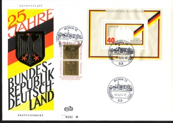(intern:1584a) BRD Michelnummer Block 10 FDC