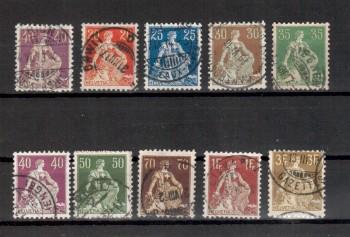 Schweiz Michelnummer 101 - 110 gestempelt