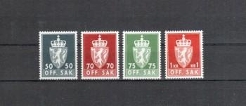Norwegen Dienst Michelnummer 91 - 94 y postfrisch