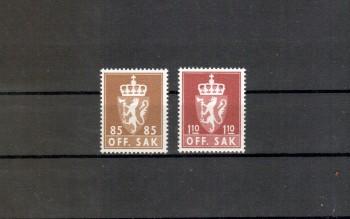 Norwegen Dienst Michelnummer 95 - 96 postfrisch