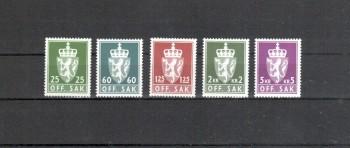 Norwegen Dienst Michelnummer 97 - 101 postfrisch