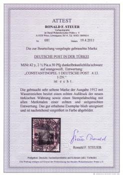 Deutsche Post in der Tuerkei Michelnummer 42 y gestempelt FA