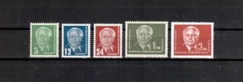 DDR Michelnummer 322 - 326 postfrisch