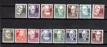 DDR Michelnummer 327 - 341 postfrisch