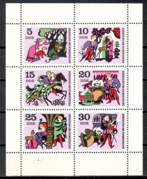 DDR Michelnummer 1545 - 1550 Kleinbogen postfrisch