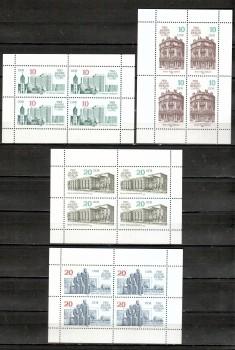 DDR Michelnummer 3075 - 3078 Kleinbogen postfrisch