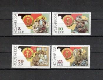 DDR Michelnummer 3279 - 3282 postfrisch