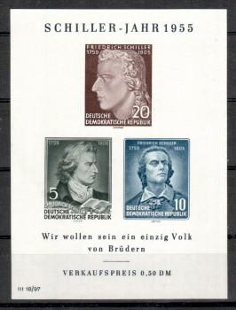 DDR Michelnummer 464 - 466 B Block 12 postfrisch