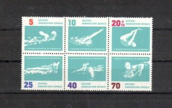 DDR Michelnummer 907 - 912 Sechserblock postfrisch