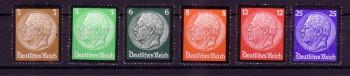 Deutsches Reich Michelnummer 548 - 553 postfrisch