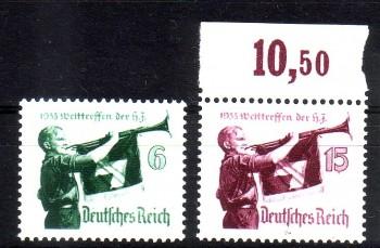 Deutsches Reich Michelnummer 584 y , 585 x postfrisch