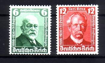 Deutsches Reich Michelnummer 604 - 605 postfrisch