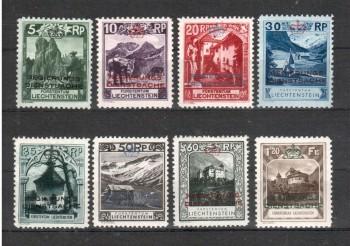 Liechtenstein Michelnummer Dienst 1 - 8 postfrisch Falz