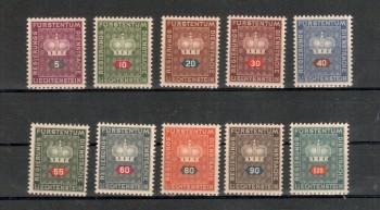 Liechtenstein Michelnummer Dienst 35 - 44 postfrisch Falz