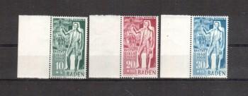Baden Michelnummer 50 - 52 postfrisch