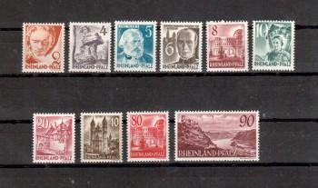 Rheinland - Pfalz Michelnummer 32 - 41 postfrisch