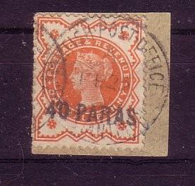 Brit.Post in der Tuerkei Michelnummer 6 Briefstueck