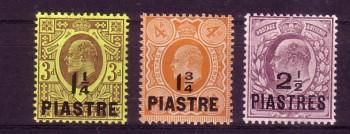 Brit.Post in der Tuerkei Michelnummer 32 - 34 postfrisch Falz