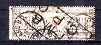GB - Telegraphenmarken Michelnummer 10 B gestempelt