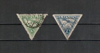 Lettland Michelnummer 75 - 76 A gestempelt