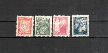 Lettland Michelnummer 242 - 245 postfrisch