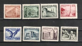 Lettland Michelnummer 271 - 278 postfrisch Falz