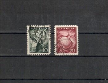 Lettland Michelnummer 279 - 280 gestempelt