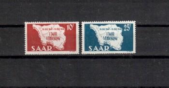 Saarland Michelnummer 260 - 261 postfrisch