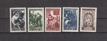 Saarland Michelnummer 267 - 271 postfrisch