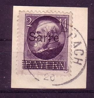 Saargebiet Michelnummer 28 Briefst
