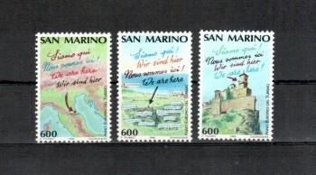 San Marino Michelnummer 1435 - 1437 A postfrisch