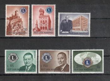 San Marino Michelnummer 659 - 664 postfrisch